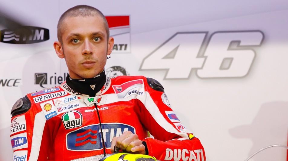 Rossi de pruebas en Jerez con Ducati