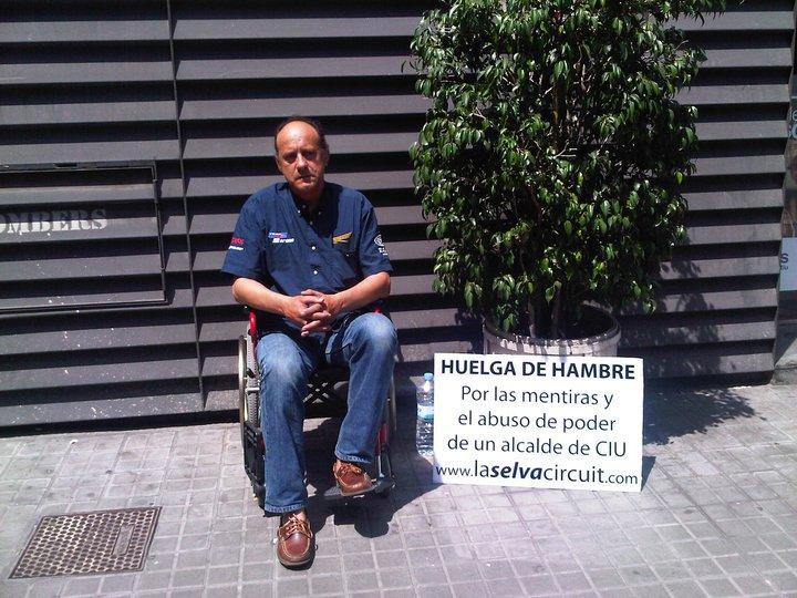 "Eduard Blanch en huelga de hambre para intentar salvar ""La Selva Circuit"""