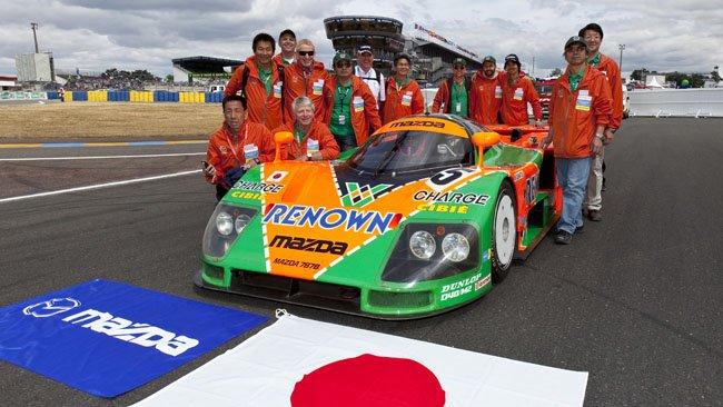 El Mazda 787B volvió a Le Mans