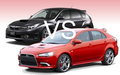 Comparativa: Subaru WRX STI vs Mitsubishi Lancer Evolution