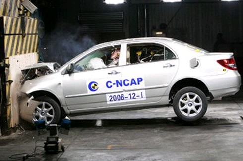 China refuerza sus Crash test