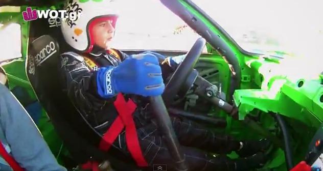 Stauros Grillis, un drifter con sólo 9 años de edad