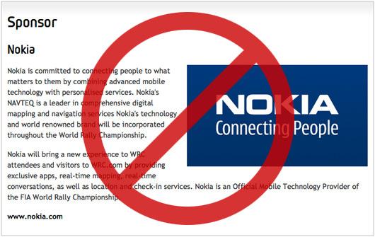 Nokia deja en la cuneta el Mundial de Rallyes