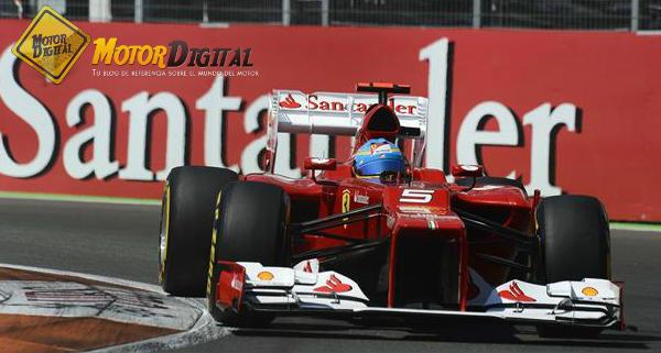 Alonso arrasa, con permiso de Vettel, en el GP de Europa