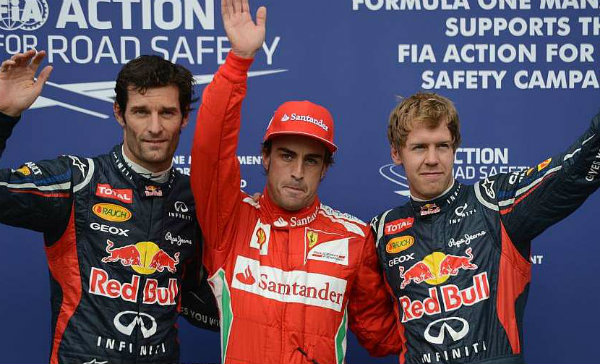 GP Alemania 2012: Alonso baila bajo la lluvia