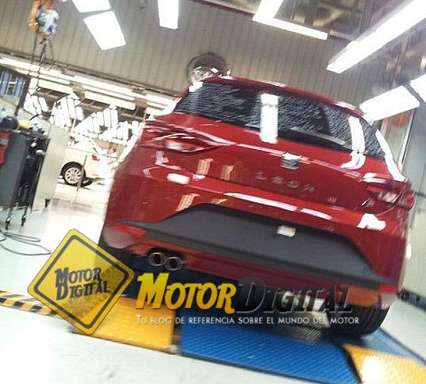 Desvelada la trasera del nuevo Seat León 2013