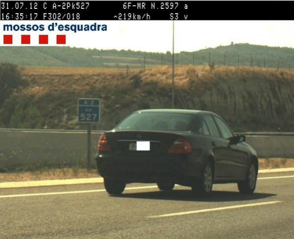 Medalla de oro olímpica en las carreteras españolas: cazado a 219 km/h y drogado