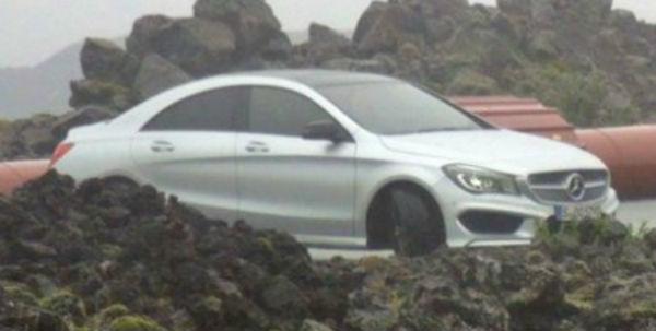 Mercedes-Benz CLA AMG cazado sin camuflaje
