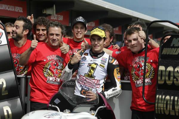 Marc Márquez, campeón del mundo 2012 de Moto2