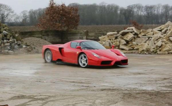 El Ferrari Enzo también sabe hacer rally