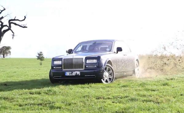 El colmo: rally con un Rolls-Royce Phantom