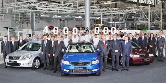 El Skoda Octavia número 4 millones sale de la cadena de montaje