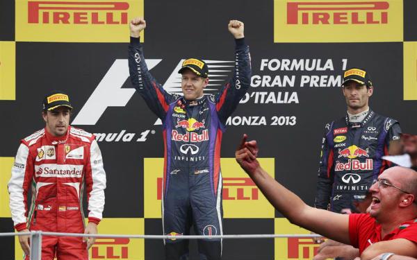 GP de Italia 2013: Vettel arroja un jarro de agua fría sobre Ferrari