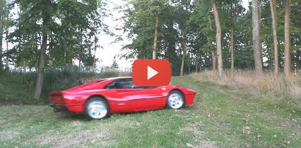 Vídeo: Rally con un Ferrari 288 GTO