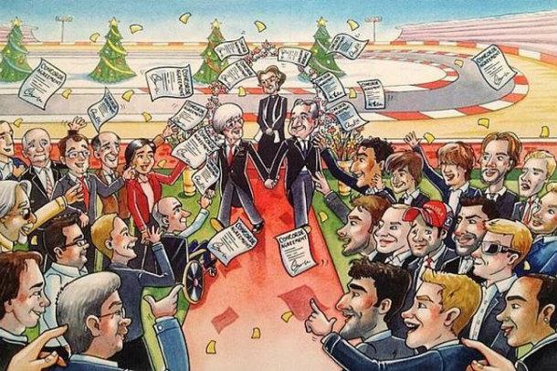 La felicitación de la Navidad 2013 de Bernie Ecclestone