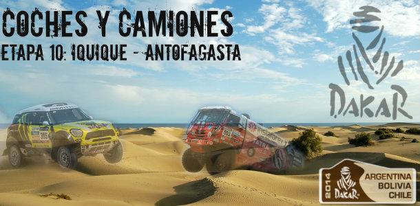Dakar 2014: etapa 10: iquique – antofagasta (coches y camiones)
