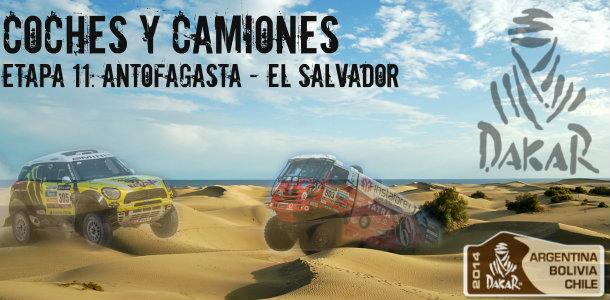 Dakar 2014: etapa 11: antofagasta – el salvador (coches y camiones)