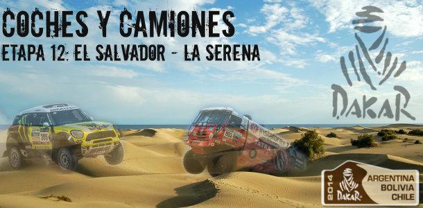Dakar 2014: etapa 12: el salvador – la serena (coches y camiones)