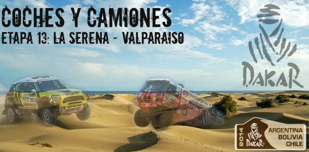 Dakar 2014: etapa 13: la serena – valparaiso (coches y camiones)