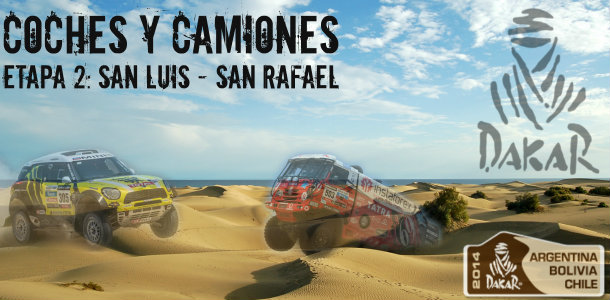 Dakar 2014: etapa 2: San Luis – San Rafael (Coches y Camiones)