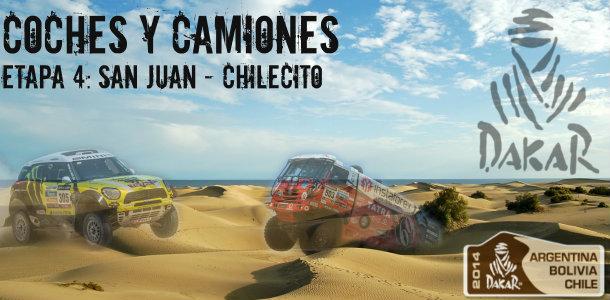Dakar 2014: etapa 4: San Juan – Chilecito (Coches y Camiones)