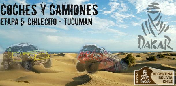 Dakar 2014: etapa 5: chilecito – tucuman (coches y camiones)