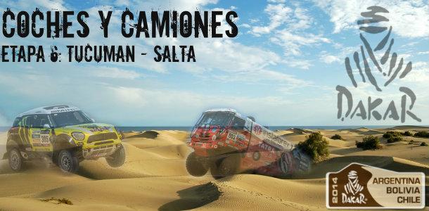 Dakar 2014: etapa 6: Tucuman – Salta (coches y camiones)