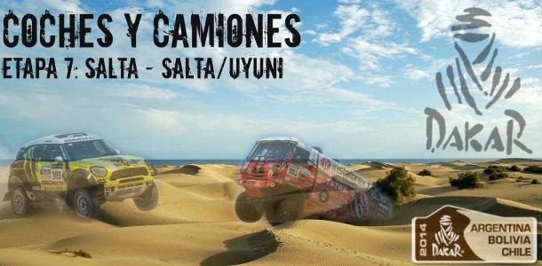 Dakar 2014: etapa 7: salta – salta (coches y camiones)