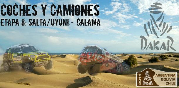 Dakar 2014: etapa 8: salta – calama (coches y camiones)