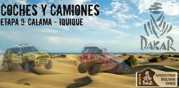 Dakar 2014: etapa 9: calama – iquique (coches y camiones)