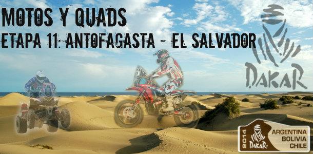 Dakar 2014: etapa 11: antofagasta – el salvador (motos y quads)