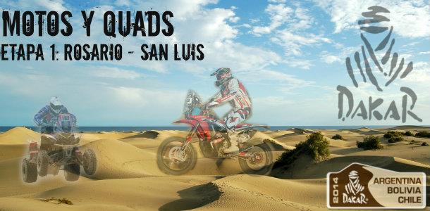 Dakar 2014: Etapa 1: Rosario – San Luis (Motos y Quads)