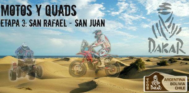 Dakar 2014: etapa 3: San Rafael – San Juan (Motos y Quads)