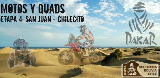 Dakar 2014: etapa 4: San Juan – Chilecito (Motos y Quads)