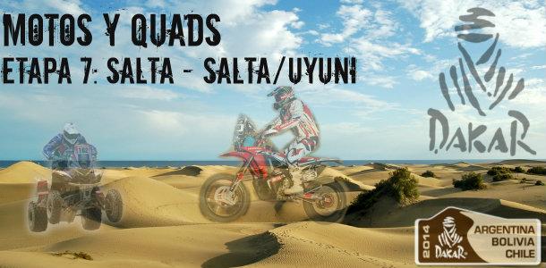 Dakar 2014: etapa 7: salta – uyuni (motos y quads)