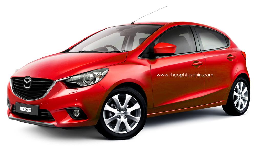 Imaginando un restyling del Mazda 2 al estilo Kodo