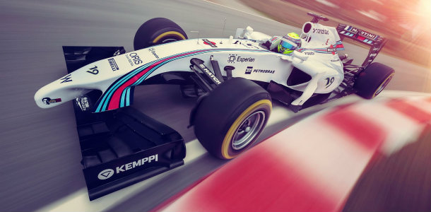 Williams ya luce los colores de Martini