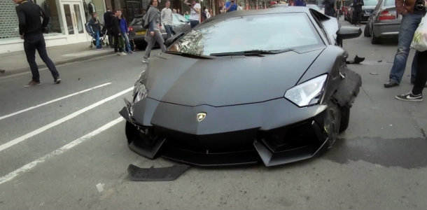 Vídeo: Accidente en Londres de un Lamborghini Aventador