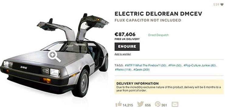 Había un plan para poner a la venta un DeLorean DMC-12 eléctrico