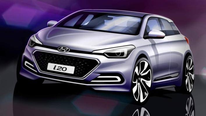 Hyundai insinúa el estilo del nuevo i20