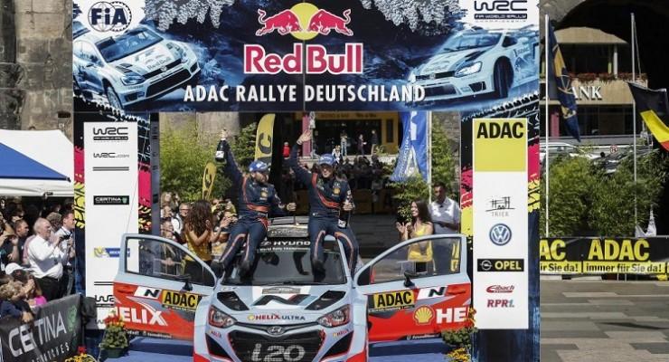 Mundial de Rallyes 2014: Hyundai gana a Volkswagen en el Rallye de Alemania